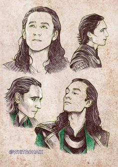 Great Loki sketches on Deviantart