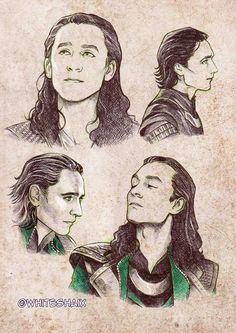 Great Loki sketches on Deviantart