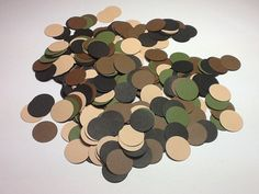 """Camouflage Confetti """"Man Style"""" Party Embellishments, Military, Duck Hunter, Deer Hunter, Groom's Cake -Set of 400"""