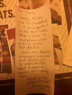 Couple Leaves A Note Behind for A Man When They Realize He's Out on A Date That's Not With His Wife