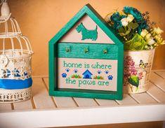 Key holder dog paws key hanger Home decor wall by TimeForStitch