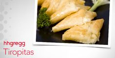 If you are are #cheese lover, then try these delicious tiropitas, which are a Greek cheese pastry for your next gathering. #FoodieFriday
