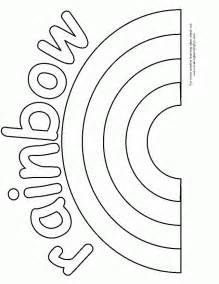 Activity Rainbow Coloring Page