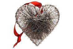 S/4 Wire Wrapped Heart Ornaments on OneKingsLane.com