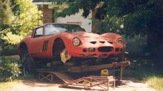 A Ferrari donated to a school auto shop, after its time racing, was later found in field abandon. Nissan 300zx, Nissan Gt R, Ferrari 250 Gto, Ferrari 2017, Ferrari Car, Stock Car, Automobile, Maserati, Bugatti