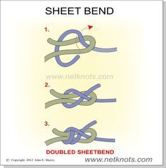 Sheet Bend - Weaver's Knot | Animated and Illustrated