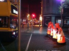 O'Connell Street was closed due to roadworks on Halloween night