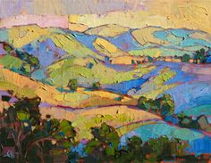 Contemporary expressionist landscape painting for sale by artist Erin Hanson
