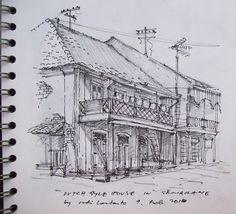 Urban Sketchers Indonesia: HISTORICAL BUILDING IN SEMARANG