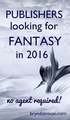 Publishers of Fantasy Novels 2016 #writing #publishing