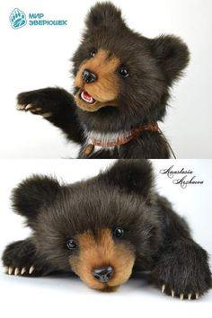 Pattern Bear with open mouth By Anastasia Arzhaeva - Bear Pile