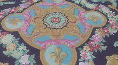 Handmade silk carpet from Yilong Carpet factory.