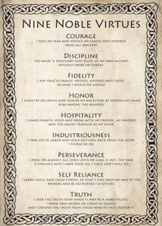 Nine Noble Virtues include nine moral and life-changing codes that can guide anyone to a life of manner of dignity. This is the great Viking spirit. Citations Viking, Writing Tips, Writing Prompts, Wisdom Quotes, Life Quotes, Qoutes, Viking Quotes, Viking Sayings, Warrior Quotes