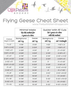 flying geese quilting resource