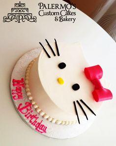 Custom Birthday Cake. Hello Kitty Cake.   Palermo's Bakery creates custom cakes, wedding cakes, birthday cakes, graduation cakes, cake pops, cupcakes, cookies, custom dessert tables and serves the New Jersey/New York Area