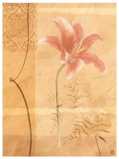 Fleurs I orange / pink art print