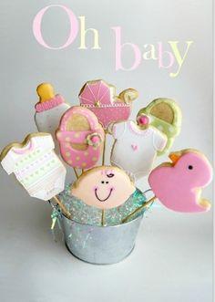 Baby shower cookies !
