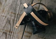 Handmade Leather Camera Strap Olympus OMD Fuji xpro par TAPandDYE