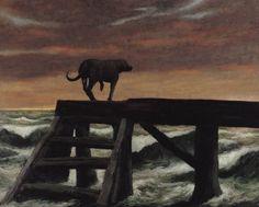 Rick Amor, The dog, 1989 John Bratby, Australian Artists, Dog Art, Dog Friends, Contemporary Artists, Printmaking, Illustration Art, Poster Prints, Artsy