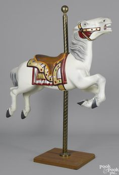 Herschell outside row jumper carousel horse, ca. 1928 - Price Estimate: $800 - $1200