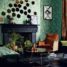 Flexform's Boss armchair is the centerpiece of this living room, featured in the March issue of LivingETC UK.   #flexform #flexformny #newyork #armchair #livingroom #leatherchair