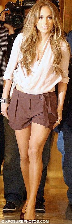 Amazing shorts? Or do they look amazing because they are on Jennifer Lopez? I think both.