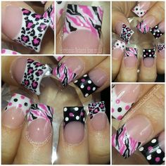 Cute, but I can't do acrylics. Maybe extend the pattern to cover all of my natural nail.