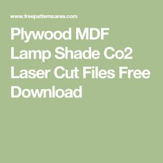 Plywood MDF Lamp Shade Co2 Laser Cut Files Free Download