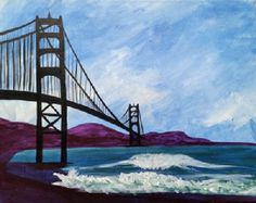 Golden Gate Waves created for Paint Nite by Shari Reyes