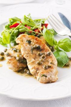 YummyvHealthy Recipe: Light Chicken Piccata / main dishes / Pinterest / Chicken, Lights and Recipe