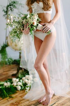 bridal boudoir, photo by Claire Loves Love http://ruffledblog.com/editorial-boudoir-shoot-with-bohemian-styling #wedding #boudoirphotography