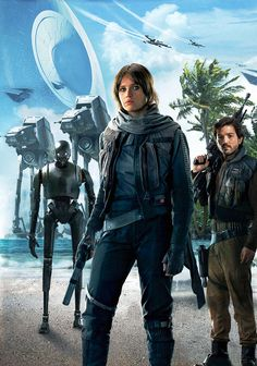 Rogue One: A Star Wars Story, Jyn Erso, and Cassian Jeron Andor on Scarif Film Star Wars, Star Wars Fan Art, Star Wars Poster, Star Trek, Rogue One Star Wars, Star Wars Painting, Star Wars Personajes, Star Wars Images, Darth Vader
