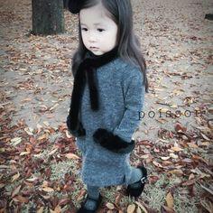 Poisson Kelly Fur Dress (2C)