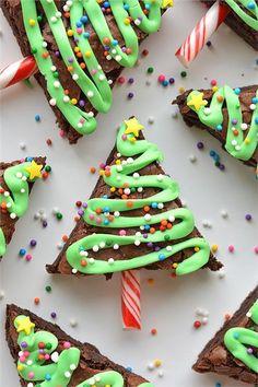 Xριστουγεννιάτικα δεντράκια brownies με σοκολάτα