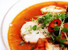 Bouillabaisseinspirert fiskesuppe