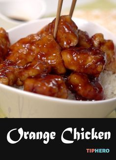 Easy Chinese Orange Chicken   Tip Hero - The secret to the sauce is  Orange marmalade and sweet BBQ sauce.