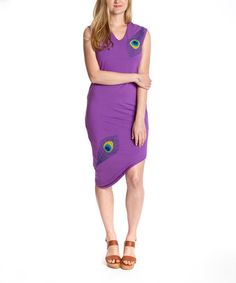 Look what I found on #zulily! Purple Orchid Peacock Nomad Organic Dress - Women #zulilyfinds