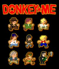 Donkey Me (arcade platformer... Donkey Kong with new themes from classic movies: Indiana Jones, Star Wars, Alien, Rambo, Conan...) [free] http://www.bruneras.com/games_donkeyme.php