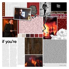 """Fire burns brighter in the dark"" by captainamericafan ❤ liked on Polyvore featuring art and BotFP"