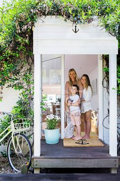 See how a complete renovation and extension has transformed this Newcastle beach house into a home four times larger than the original property. Beach Cottage Style, Beach Cottage Decor, Coastal Cottage, Coastal Style, Beach Cottage Exterior, Brick Cottage, Cottage Ideas, Coastal Homes, Coastal Living