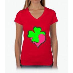 Shamrock Clover St Patrick's Day- saint patrick day shirts Womens V-Neck T-Shirt