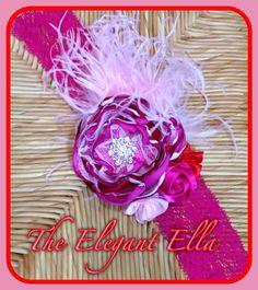 Valentines day red hot pink pink satin handmade by TheElegantElla, $20.00