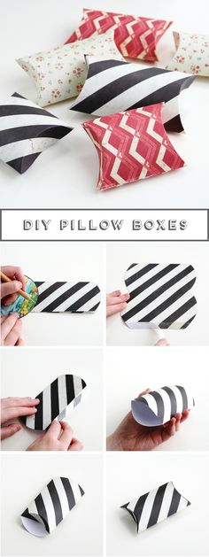 Diy Pillow Boxes                                                                                                                                                      More