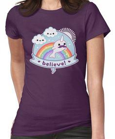 Believe in Narwhals Women's T-Shirt