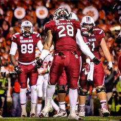 Running back Mike Davis during the Clemson game #Gamecocks