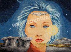 Cod produs Spiritul babelor Culori: 31 Dimensiune: 22 x Pret: lei Jim Warren, Needlepoint, Cod, Faces, Spirit, Painting, Toddler Girls, Punto De Cruz, Earth