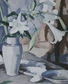 The Athenaeum - Lilies (Samuel John Peploe - ) French Paintings, Your Paintings, Floral Paintings, Still Life Artists, Lily Painting, High Art, Art Uk, Print Artist, New Art
