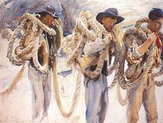 Workmen at Carrara by John Singer Sargent (USA)