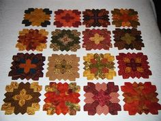 """Blocks for """"Shades of Autumn"""" Patchwork of the Crosses"""