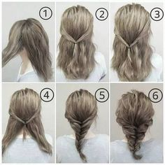 Elegant Fishtail Braided Hair Styles